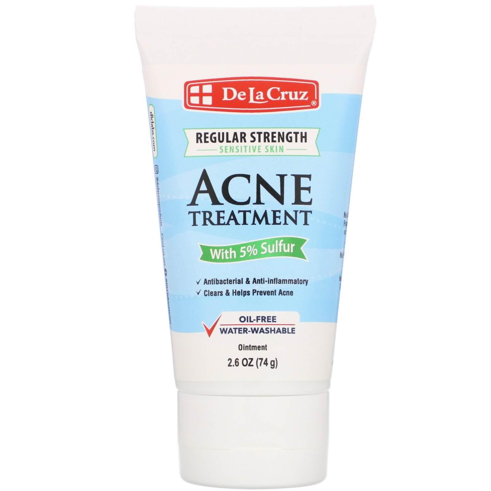 Маска проти акне De La Cruz Ointment Acne Treatment with 5% Sulfur Regular Strength