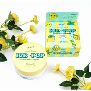 Осветляющие патчи с лимоном Koelf Ice-Pop Lemon & Basil Hydrogel Eye Mask купить в Киеве Украина | All Face