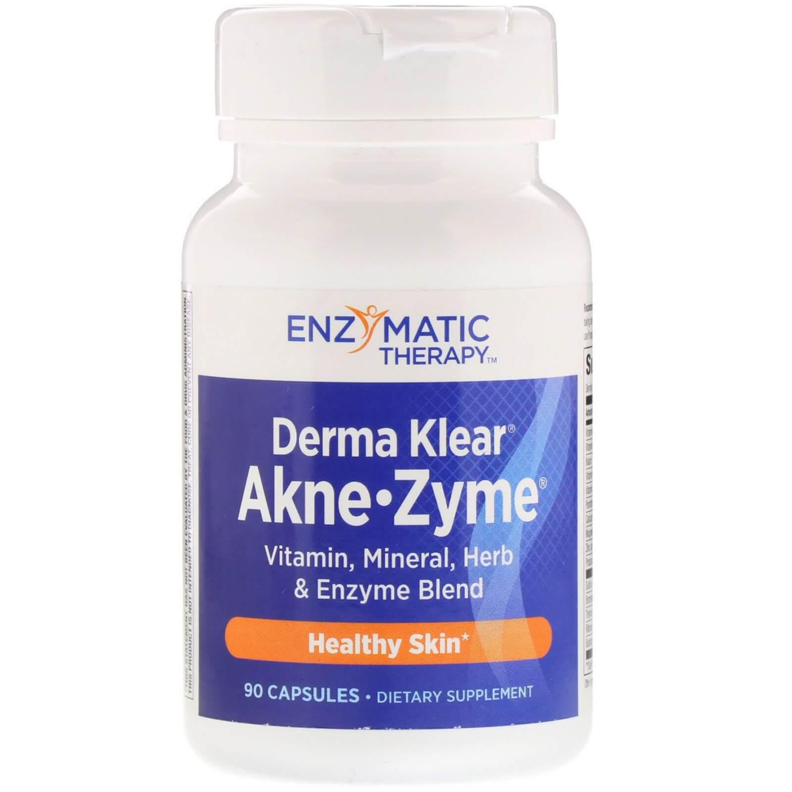 Добавка для шкіри з акне Derma Klear Akne-Zyme 90 капсул