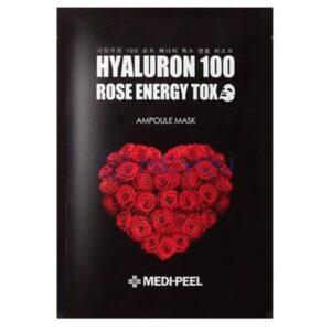 Ампульная маска с розой MEDI-PEEL Hyaluron 100 Rose Energy Tox купить в Киеве Украина | All Face