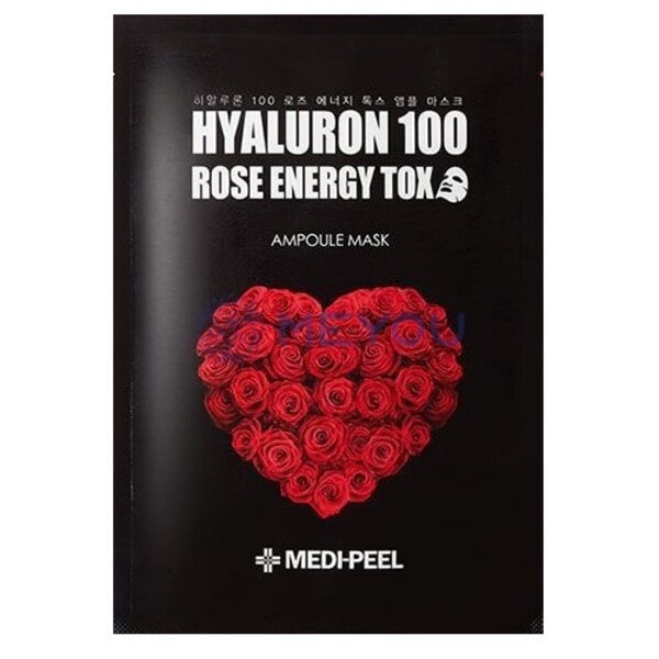 Ампульная маска с розой MEDI-PEEL Hyaluron 100 Rose Energy Tox