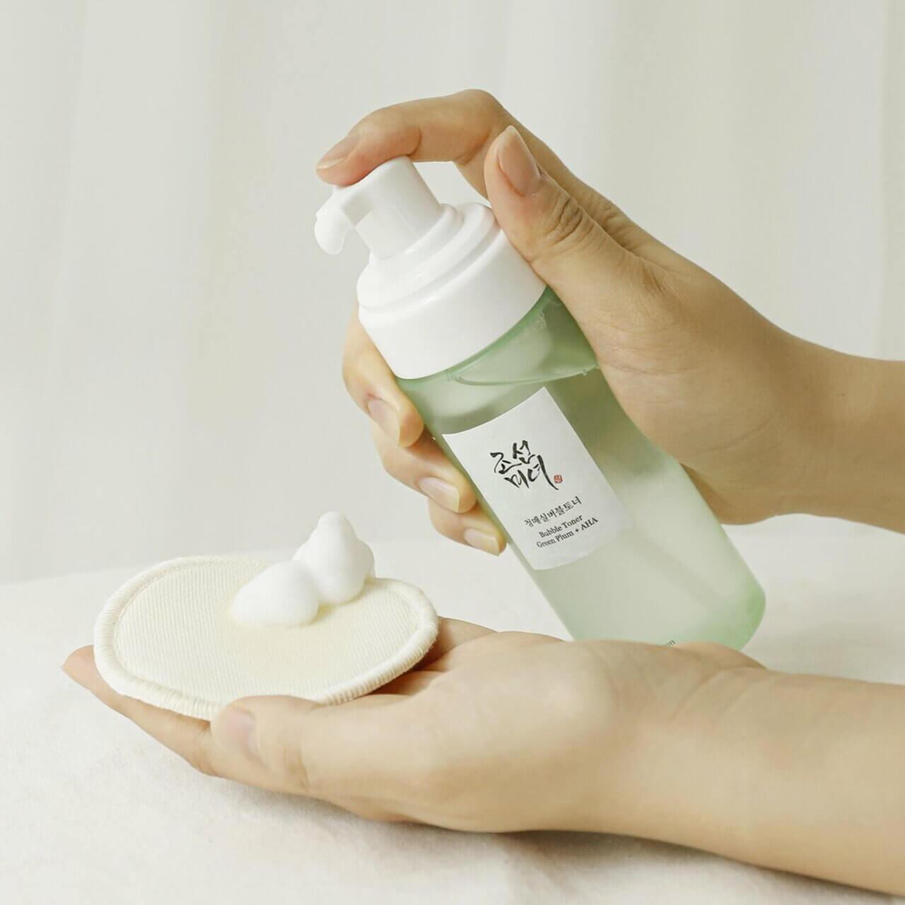 Тонер-мус Beauty of Joseon Bubble Toner Green Plum + AHA