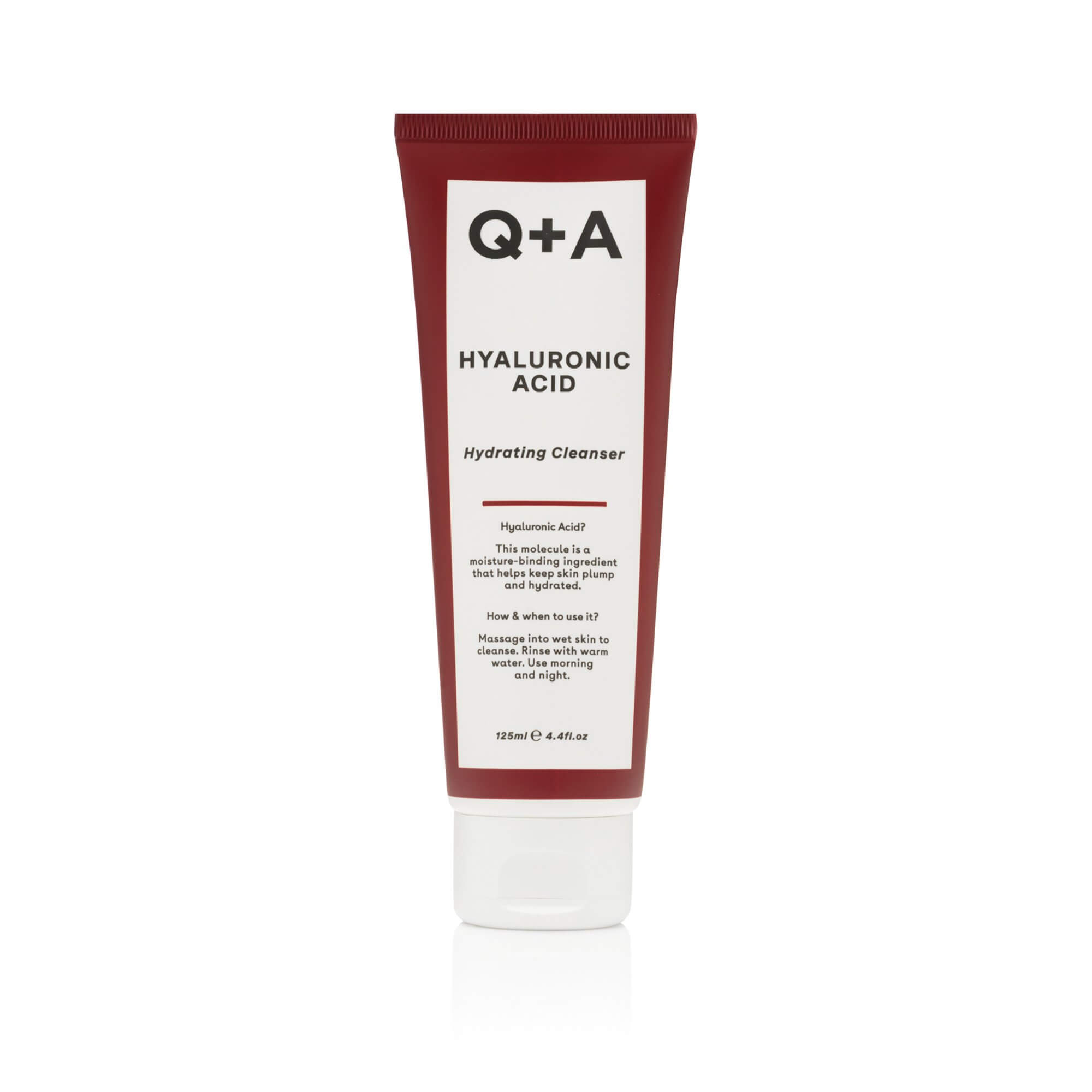 Гель для умывания с гиалуроновой кислотой Q+A Hyaluronic Acid Hydrating Cleanser