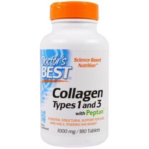 Kollagen tip 1 i 3 Doctors Best Collagen Types 1 3 with Peptan 1000 mg