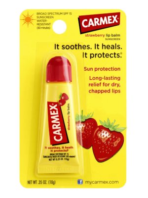 Lechebnyj balzam dlya gub Klubnichnyj Carmex Daily Care Lip Balm Strawberry Tube SPF 15