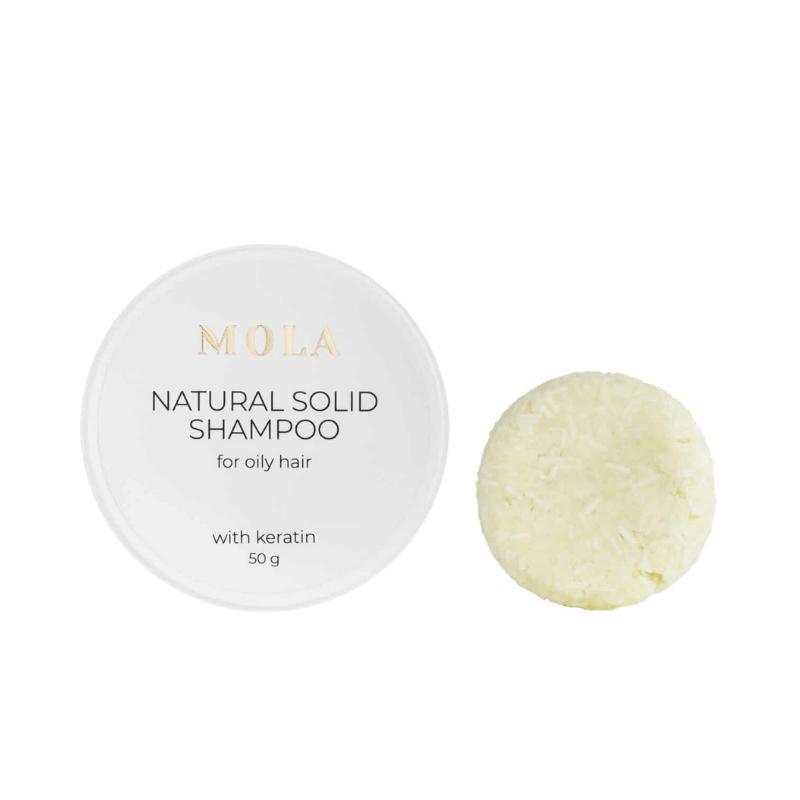 Твердий шампунь для жирного волосся  MOLA Natural Solid Shampoo For Oily Hair