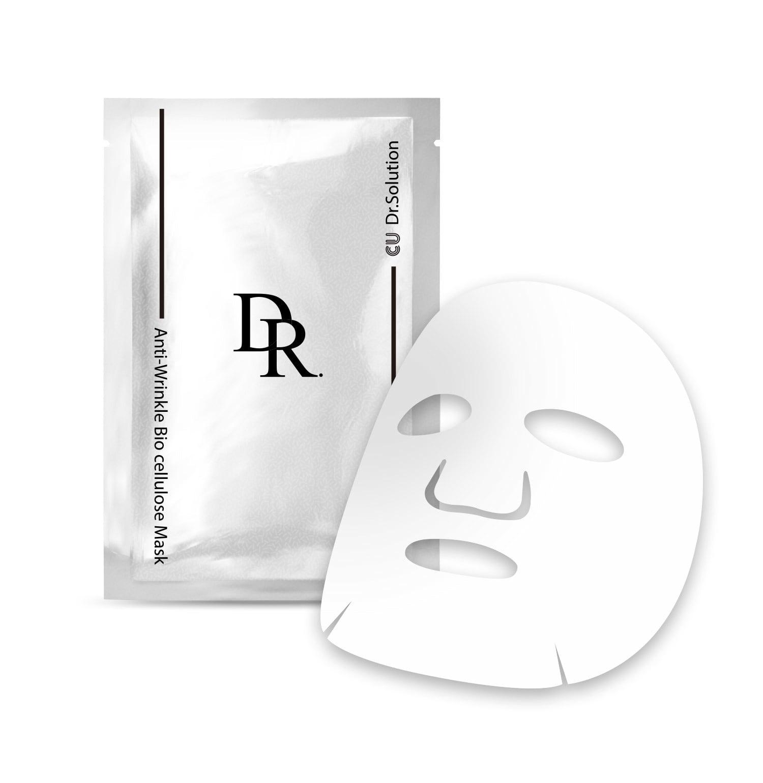 Маска для лица с вольюфилином и пептидами CUSKIN DR. Solution Anti-Wrinkle Bio Cellulose Mask