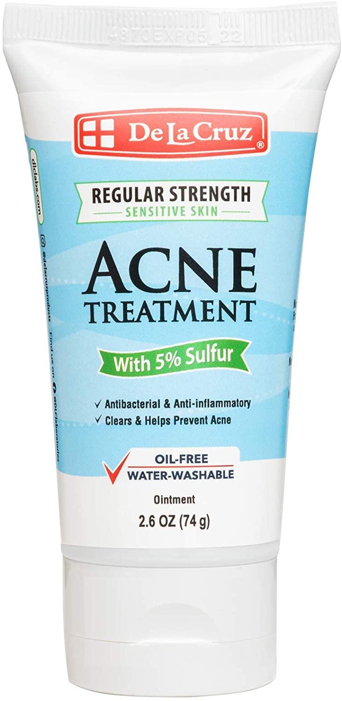 Маска против акне De La Cruz Ointment Acne Treatment with 5% Sulfur Regular Strength