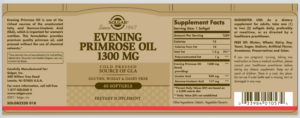 Maslo vechernej primuly Solgar Evening Primrose Oil 1 300 mg 60 kapsul 1