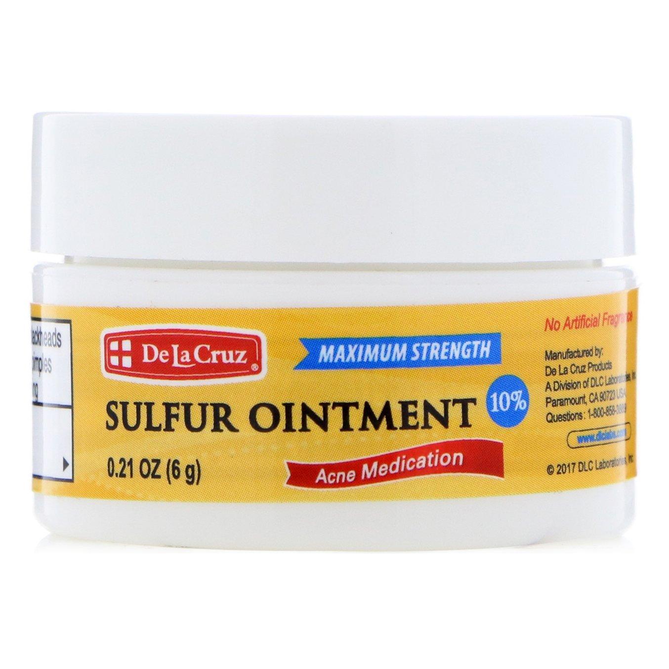 Мазь серная от акне De La Cruz Sulfur Ointment Acne Medication