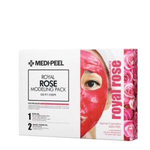 Nabor iz 4 h modeliruyushhih masok s rozoj i matochnym molochkom Medi peel Modeling Pack Royal Rose