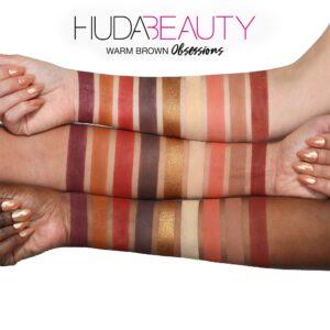Paletka 9 tenej Huda Beauty Obsessions Palette Warm Brown 4