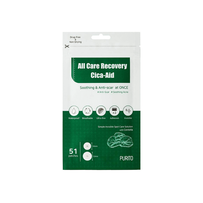 Патчи против воспалений Purito All Care Recovery Cica-Aid