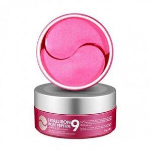Patchi s peptidami i rozoj Medi Peel Hyaluron Rose Peptide Eye Patch