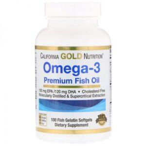 Рыбий жир California Gold Nutrition Omega-3 Premium Fish Oil 100 капсул купить в Киеве Украина | All Face