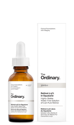 Skvalanovaya emulsiya maslo s 05 retinolom The Ordinary Retinol 05 in Squalane 30 ml