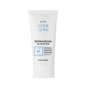 Солнцезащитный крем Etude House Soon Jung Mild Defence Sun Cream SPF49 купить в Киеве Украина | All Face