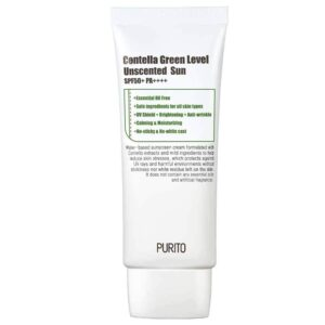 Solntsezashhitnyj krem PURITO Centella Green Level Unscented Sun SPF50PA