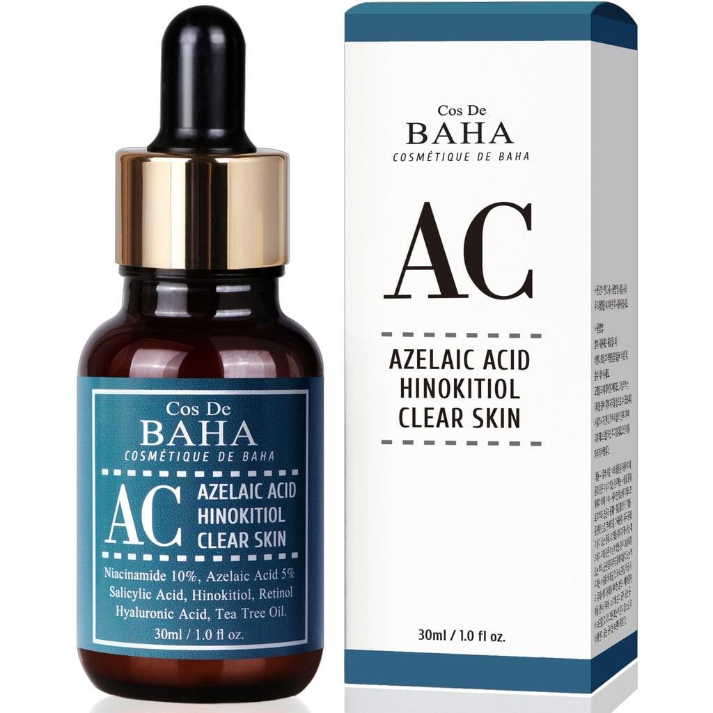 Серум проти акне Cos de Baha Acne Treatment Serum Azelaic acid 5%, Hinokitiol, Niacinamide 10%, Salicylic Acid, Retinol, Tea Tree