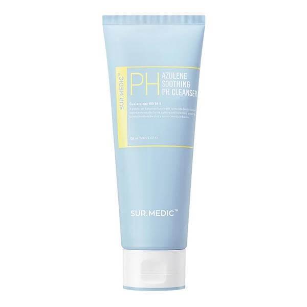 Гель для умывания с азуленом и керамидами SUR.MEDIC+ Azulene Soothing pH Cleanser