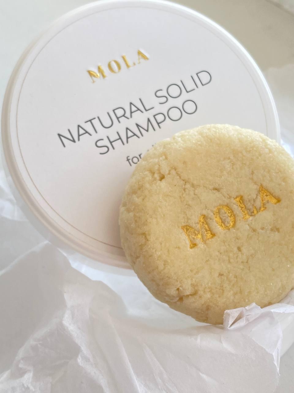 Твердий шампунь для сухого волосся MOLA Natural Solid Shampoo For Normal And Dry Hair