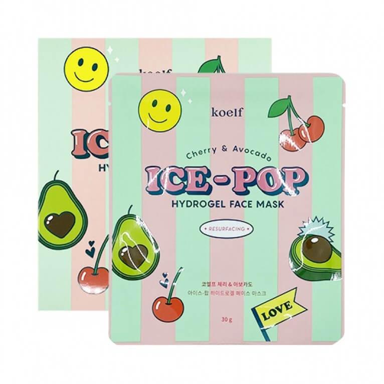 Гідрогелева маска з вишнею і авокадо KOELF Cherry & Avocado Ice-Pop Hydrogel Face Mask