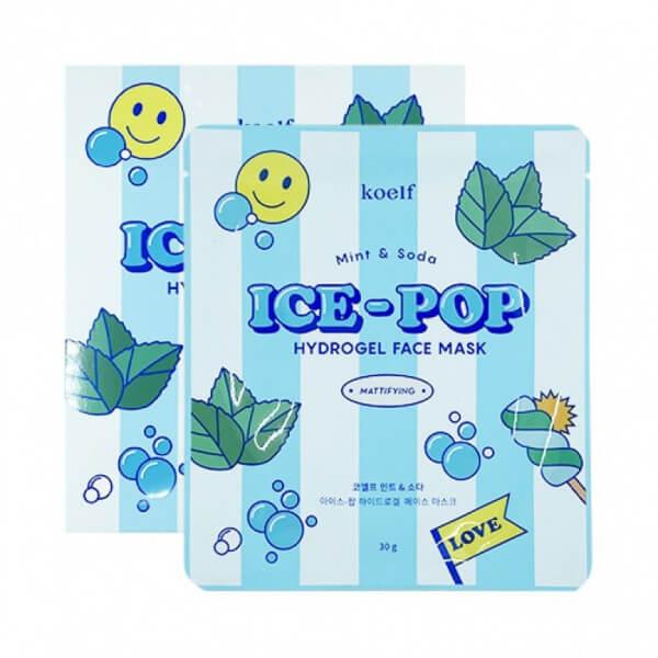 Гідрогелева маска з м'ятою KOELF Mint & Soda Ice-Pop Hydrogel Face Mask