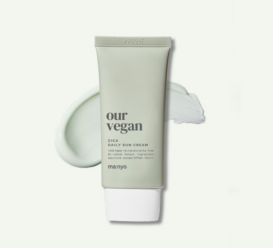 Матирующий солнцезащитный крем Manyo Our Vegan Cica Daily Sun Cream SPF50+ PA++++