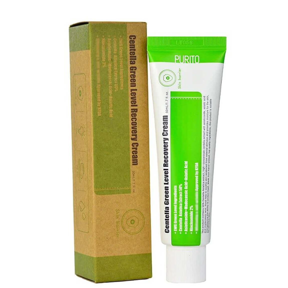 Заспокійливий крем PURITO Centella Green Level Recovery Cream